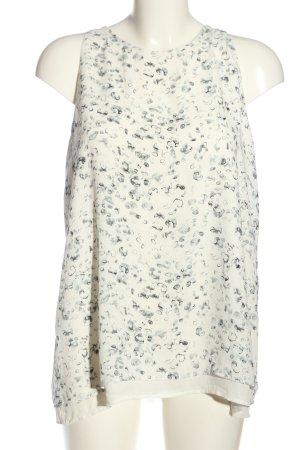 Adrienne Vittadini Canotta bianco-grigio chiaro motivo astratto stile casual