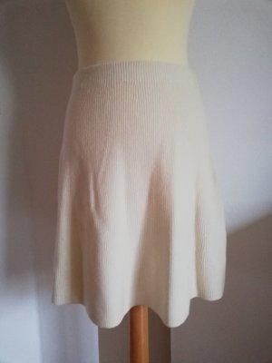 Adrienne Vittadini Wełniana spódnica w kolorze białej wełny