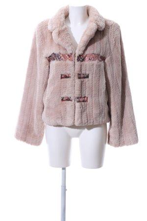Adrion Giacca in eco pelliccia rosa stile casual