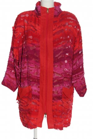 Adrion Veste mi-saison rouge-rose gradient de couleur style décontracté