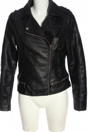 Adrixx Biker Jacket black casual look