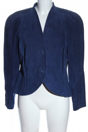 Ae boutique BY ELEGANCE S.A. PARIS Giacca in pelle blu stile casual