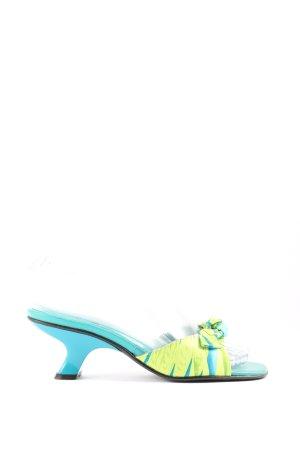 ae elegance Sandalias con tacón azul-verde look casual