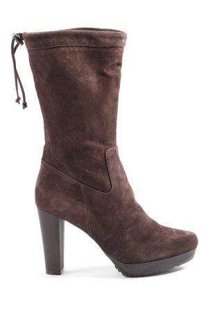 ae elegance Bottes à talon brun style décontracté