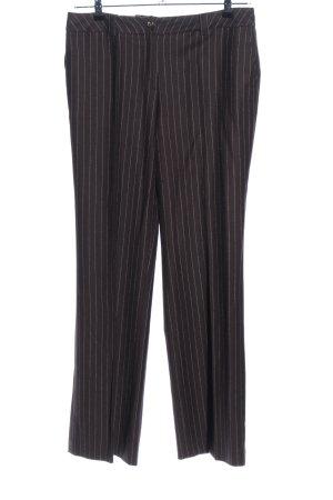 ae elegance Anzughose dunkelbraun Streifenmuster Casual-Look