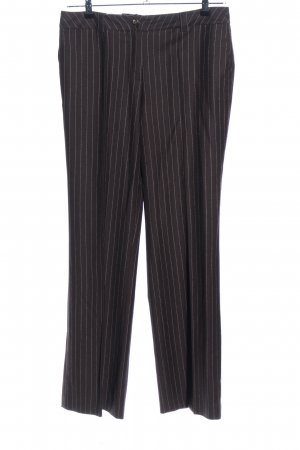 ae elegance Suit Trouser brown-natural white striped pattern casual look