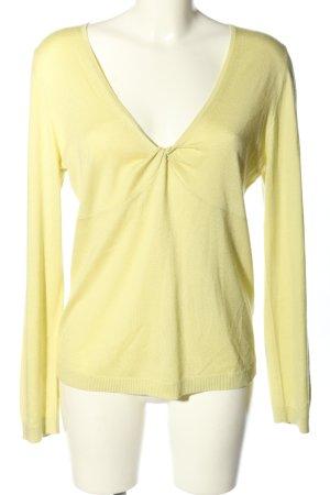 ae elegance Kaszmirowy sweter bladożółty W stylu casual