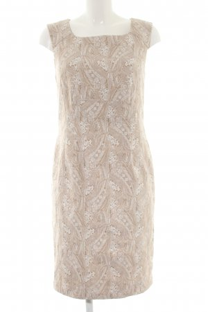 ae elegance Sheath Dress cream abstract pattern business style