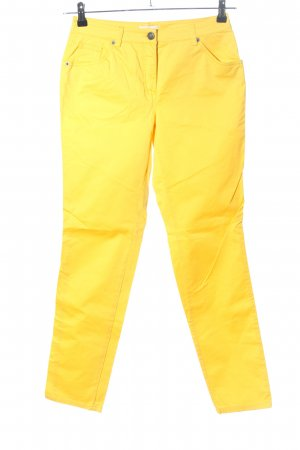 ae elegance Five-Pocket-Hose blassgelb Casual-Look