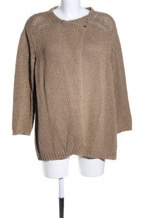 ae elegance Coarse Knitted Jacket brown casual look