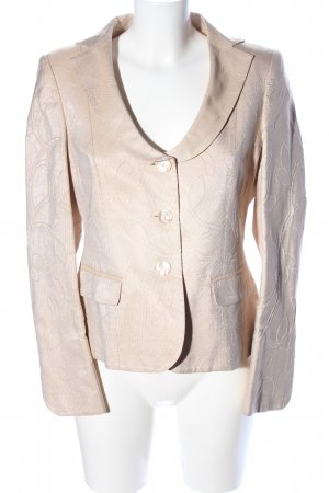 ae elegance Jersey Blazer gold-colored-oatmeal flower pattern elegant