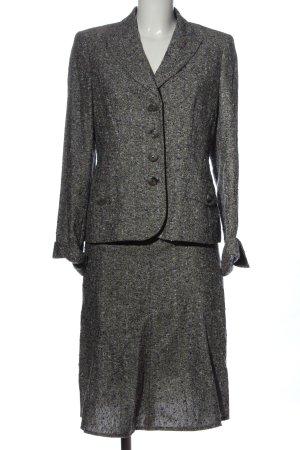 ae elegance Kostium jasnoszary Melanżowy W stylu biznesowym