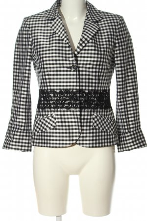 ae elegance Kurz-Blazer schwarz-weiß Karomuster Elegant