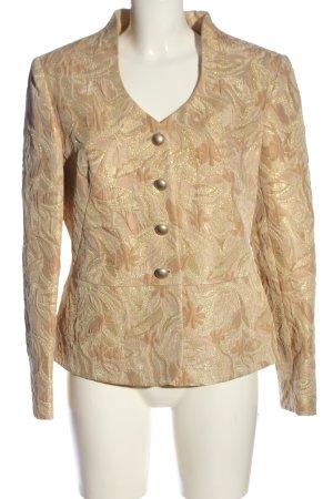 ae elegance Blazer corto color oro-nude estampado floral elegante