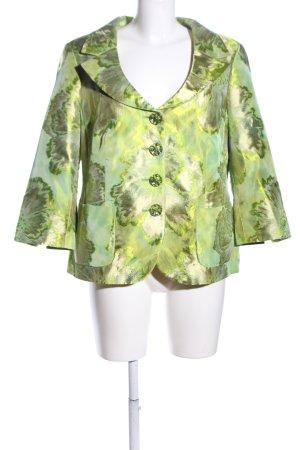 ae elegance Korte blazer groen volledige print extravagante stijl