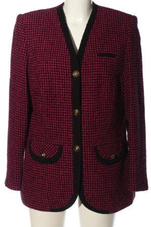 ae elegance Blazer corto rosso-nero stampa integrale stile professionale