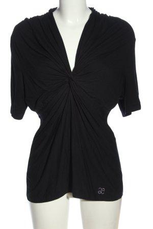 ae elegance Blouse à manches courtes noir style décontracté