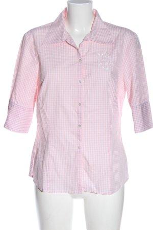 ae elegance Chemise à manches courtes rose-blanc imprimé allover