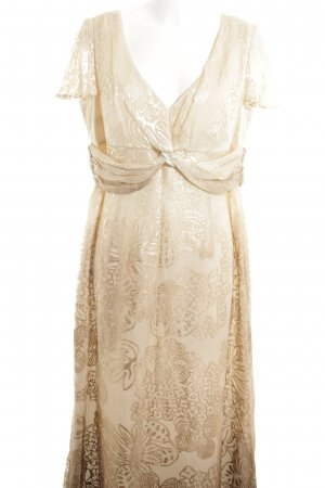 ae elegance Shortsleeve Dress cream flower pattern elegant