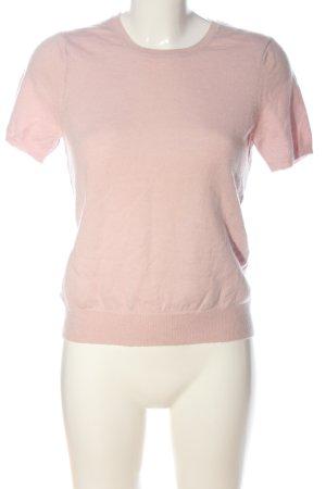 ae elegance Kurzarmpullover pink Casual-Look