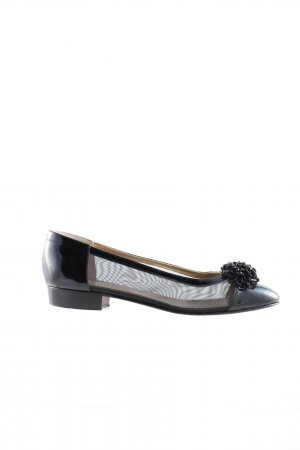 ae elegance Lackballerinas schwarz Business-Look