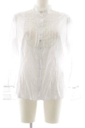 ae elegance Langarm-Bluse weiß Elegant