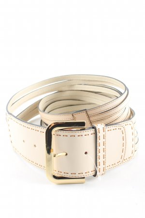 ae elegance Leather Belt cream casual look