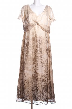 ae elegance Maxi Dress natural white-brown allover print elegant