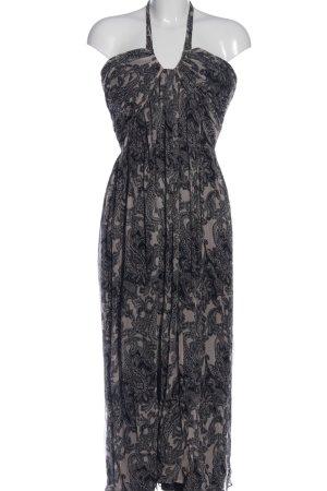 ae elegance Sukienka maxi jasnoszary-czarny Łączone wzory W stylu casual