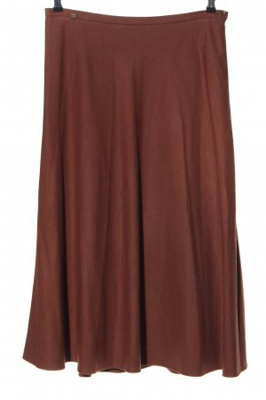 ae elegance Falda larga marrón look casual