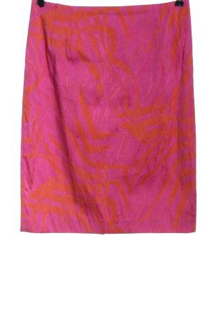 ae elegance Jupe mi-longue rose-orange clair motif abstrait style décontracté