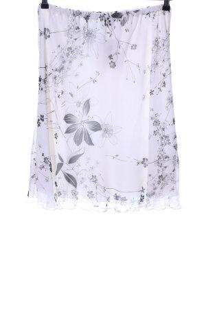 ae elegance Mini-jupe blanc-gris clair imprimé allover style décontracté
