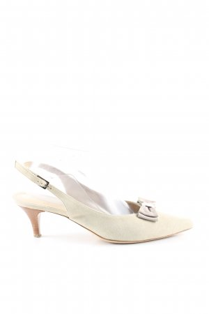 ae elegance Slingback-Pumps wollweiß Business-Look