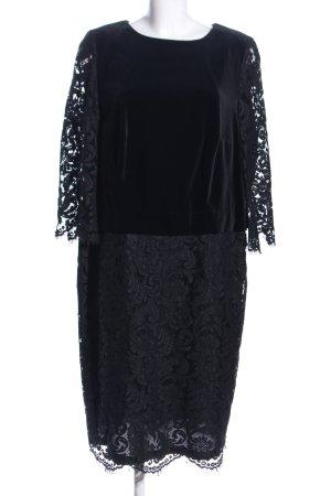 ae elegance Robe en dentelle noir motif abstrait élégant
