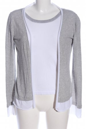 ae elegance Twin Set punto gris claro-blanco look casual