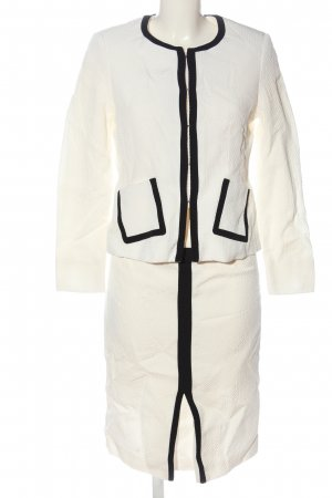 ae elegance Tailleur bianco sporco-nero stile casual