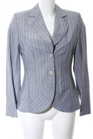 ae elegance Short Blazer light grey-blue striped pattern business style