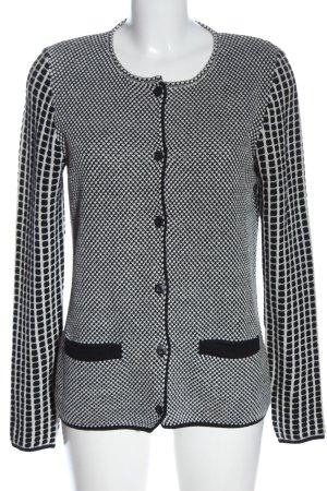 ae elegance Veste en tricot noir-blanc style décontracté