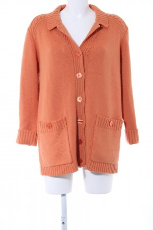 ae elegance Cardigan light orange cable stitch casual look