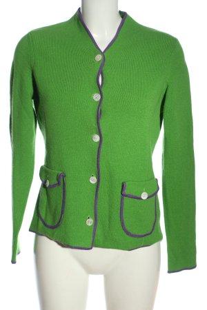 ae elegance Giacca in maglia verde stile casual
