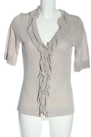 ae elegance T-shirts en mailles tricotées gris clair moucheté