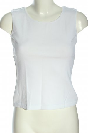ae elegance Top de punto blanco look casual
