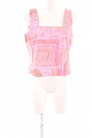 ae elegance Strappy Top pink allover print casual look