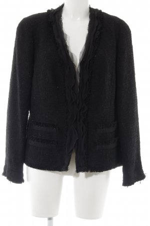ae elegance Tweed Blazer black-silver-colored flecked elegant