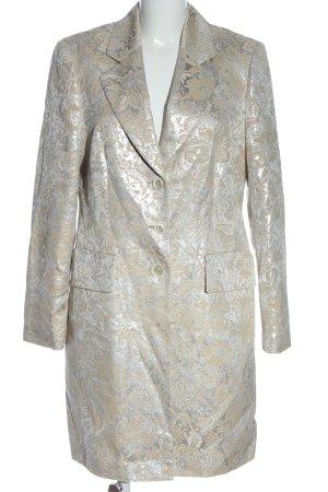 ae elegance Manteau mi-saison argenté-crème motif abstrait style décontracté