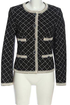 ae elegance Wool Blazer black-cream check pattern casual look
