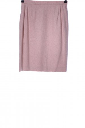ae elegance Falda de lana rosa moteado look casual