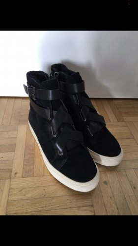 High top sneaker zwart-wolwit