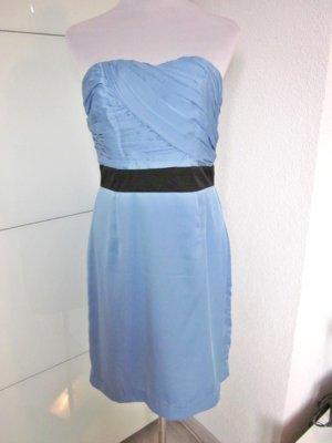 Ärmellos Bandeau  Kleid Blau Neu Gr 42