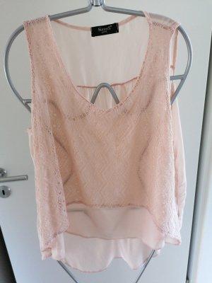 Crochet Top dusky pink